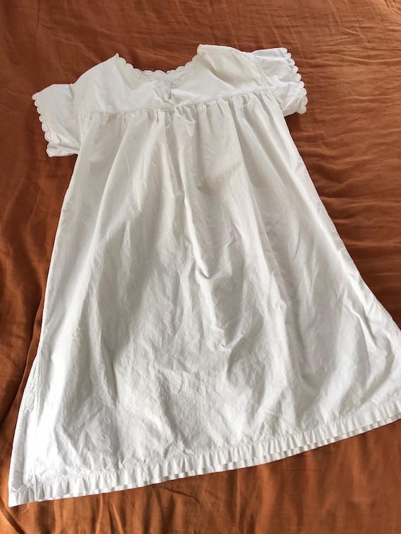 1950's French scalloped night dress, cotton dress,