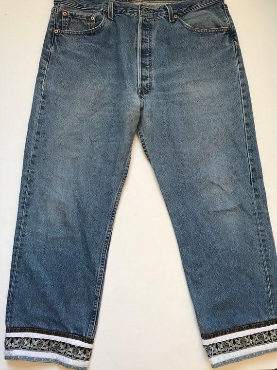 Vintage Levis Custom Jeans, levis 501, Cropped Le… - image 1