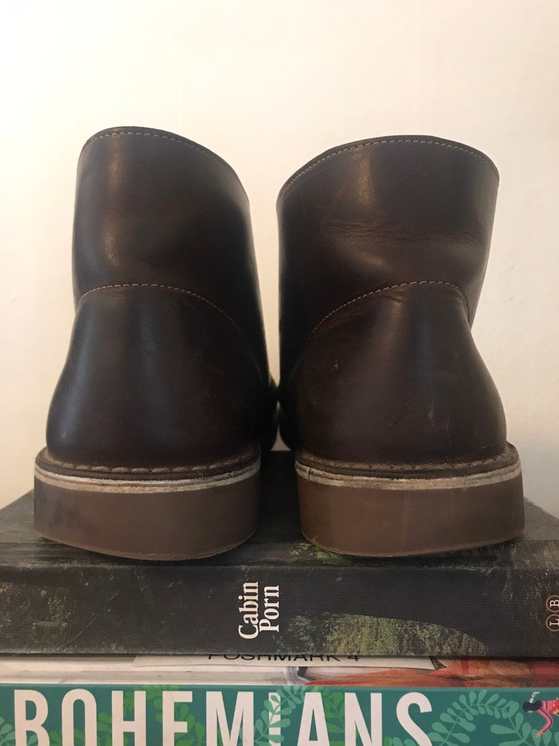 Vintage mens Clarks boots, size 9.5W, kinfolk, bohemian boots, boho boots, rusyic boots, hippie boots, Clarks mens boots, grunge boots, wide