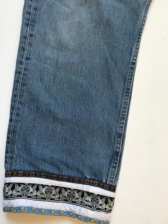 Vintage Levis Custom Jeans, levis 501, Cropped Le… - image 3
