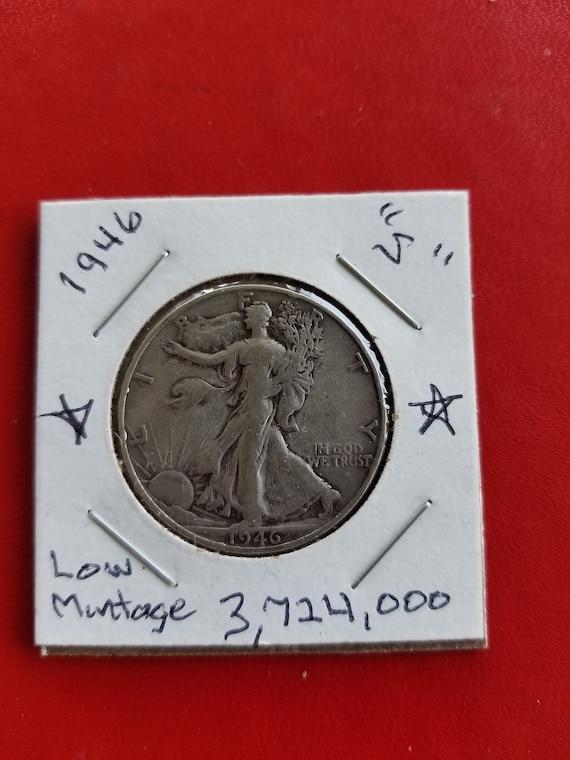 ONE WALKING LIBERTY 1//2 oz .999 PURE SILVER  BU COIN combine shipping save $$$$
