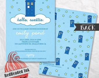 Doctor Who Baby Shower Invitation