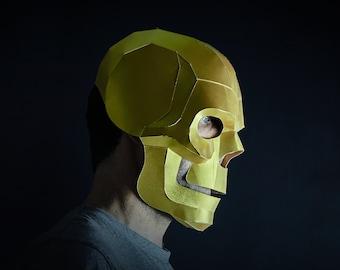 Skull 3D Papercraft Mask Template, Paper Mask, Unique Halloween Costume, Cosplay Pattern, PDF Pattern