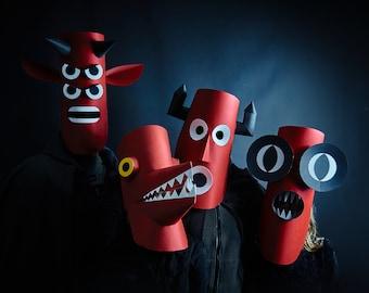 Papercraft Monster Mask Festival Set