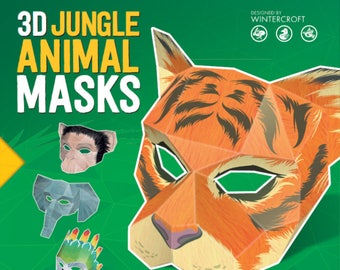 Make your own animal masks from reclaimed card by Wintercroft