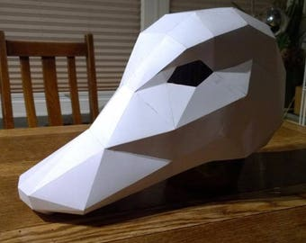 wolf mask make your own with this simple pdf download great etsy