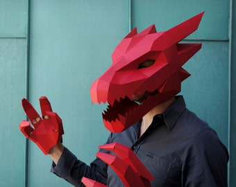 Dragon Mask V2 - Make your own card mask with this simple PDF template