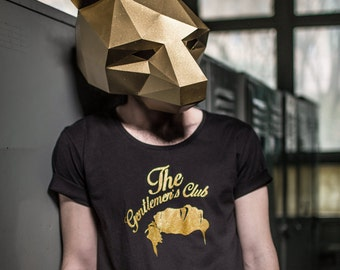 Bear Mask - make your own from recycled card, perfect for festivals
