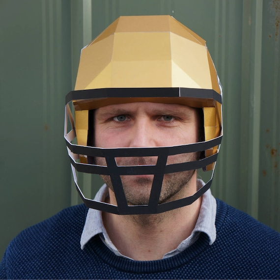 American Football Helmet Make Your Own Using A Simple PDF