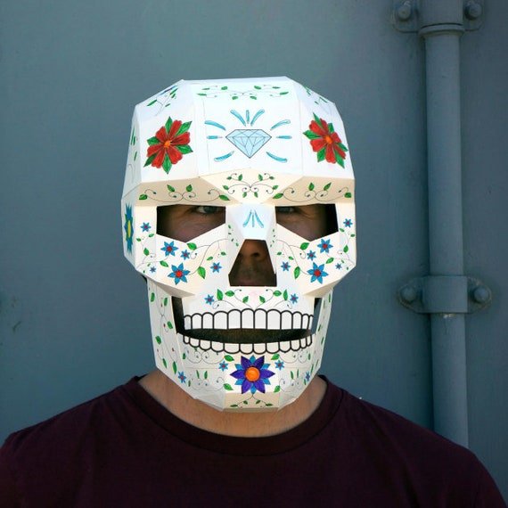 Skull Mask Easy To Make And Perfect For Halloween Or Day Of