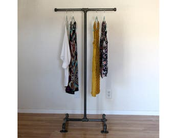 Industrial Clothing Rack   T Stand Pipe Retail Display   Industrial  Furniture   Clothing Display   Store Display