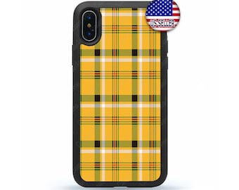 1f86411b7c27 Yellow Plaid Tartan iPhone Case