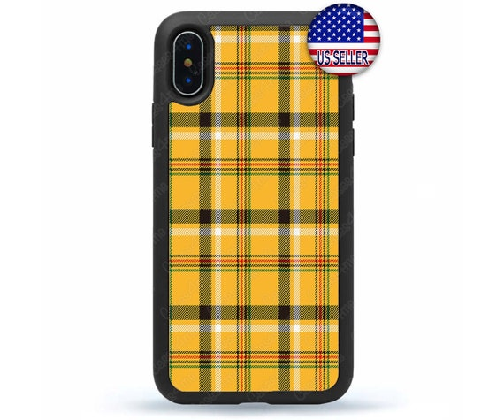 new product d5685 65114 Yellow Plaid Tartan iPhone Case, Cover, Winter Phone Case,iPhone X/Xs Max  XR 8 7 6 Plus 5 4, iPod Touch 7/6/5/4, Autumn Design