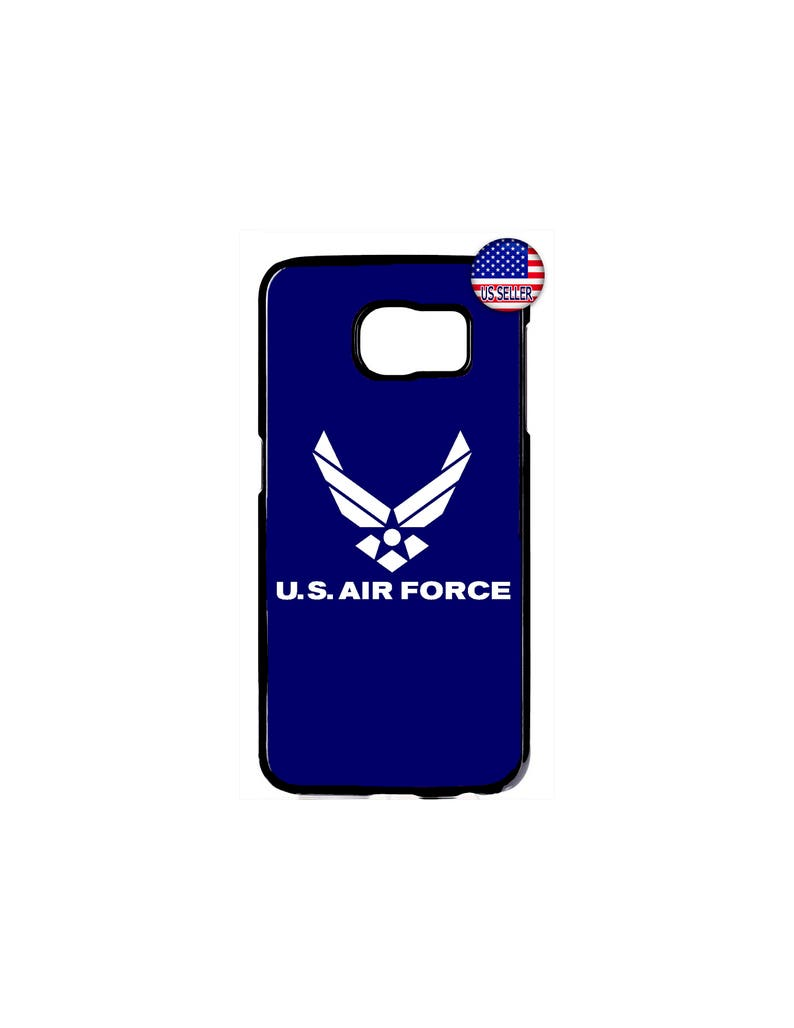 Hard Rubber Case Cover For Samsung Galaxy s10 s10e s9 plus S8 S7 S6 Edge s5  NOTE 9 8 5 Google Pixel 3 2 XL US Air Force Wings Logo Military