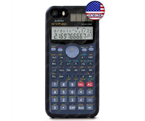 Calculator Funny Hard Rubber Case Cover For iPhone 8 7 6 Plus X Xs Max XR 5  4, iPod 7 6 5 4 Touch