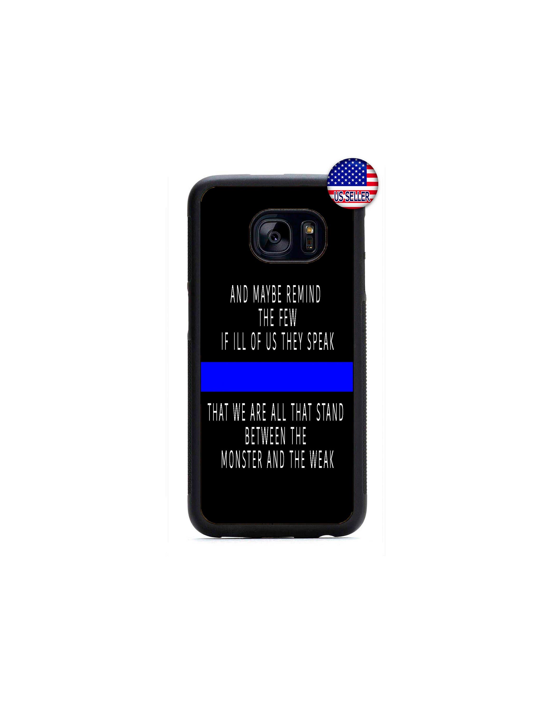 best website 66eee 04bbe Police Blue Line Samsung Phone Case, Police Quote Phone Case For Samsung  Galaxy S9 S8 S7 Plus S6 Edge S5 NOTE 9 8 5 Google Pixel 3 2 XL