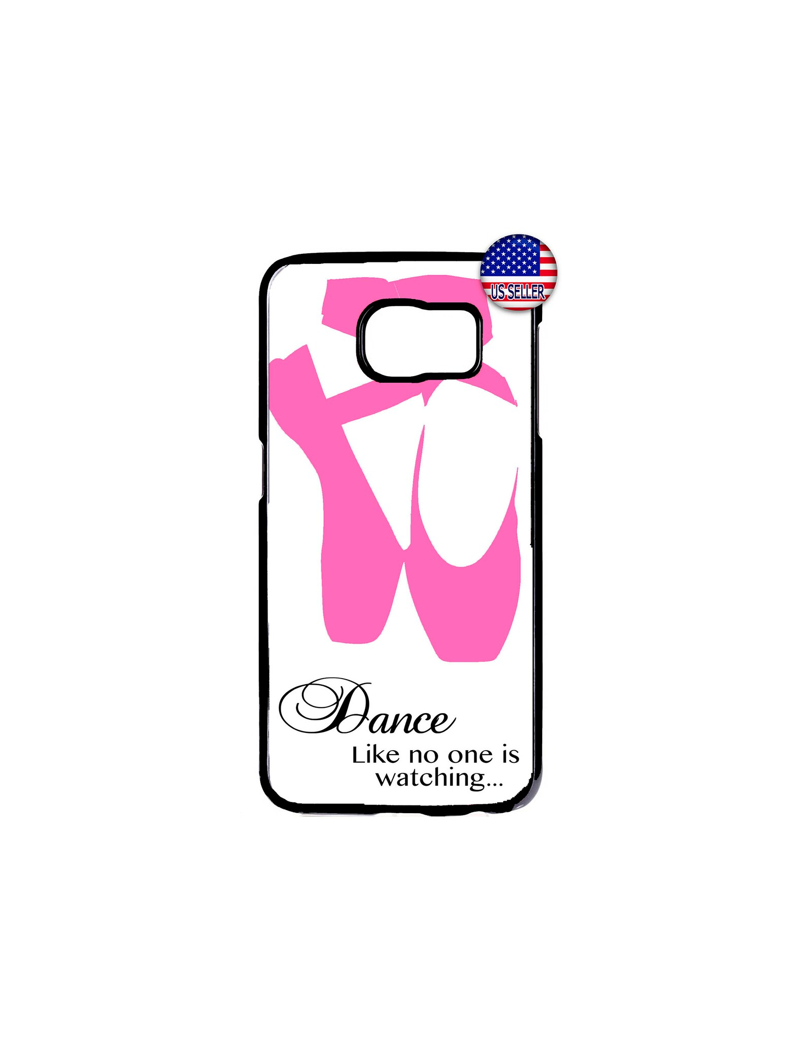 ballerina ballet dancer shoes hard rubber slim case cover for samsung galaxy s9 s8 s7 s6 edge plus s5 s4 s3 note 8 5 4 ipod touc