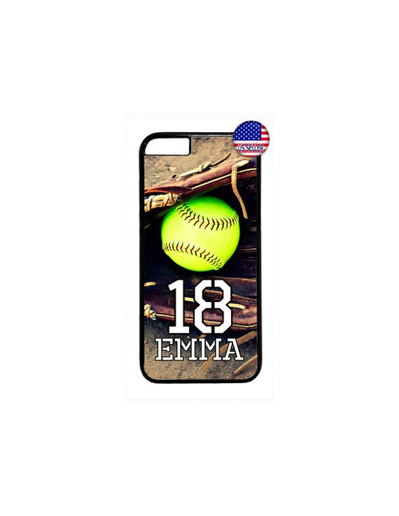 Personalized Name and Number Softball Sport Cute Case Cover For Apple iPod 4 5 6