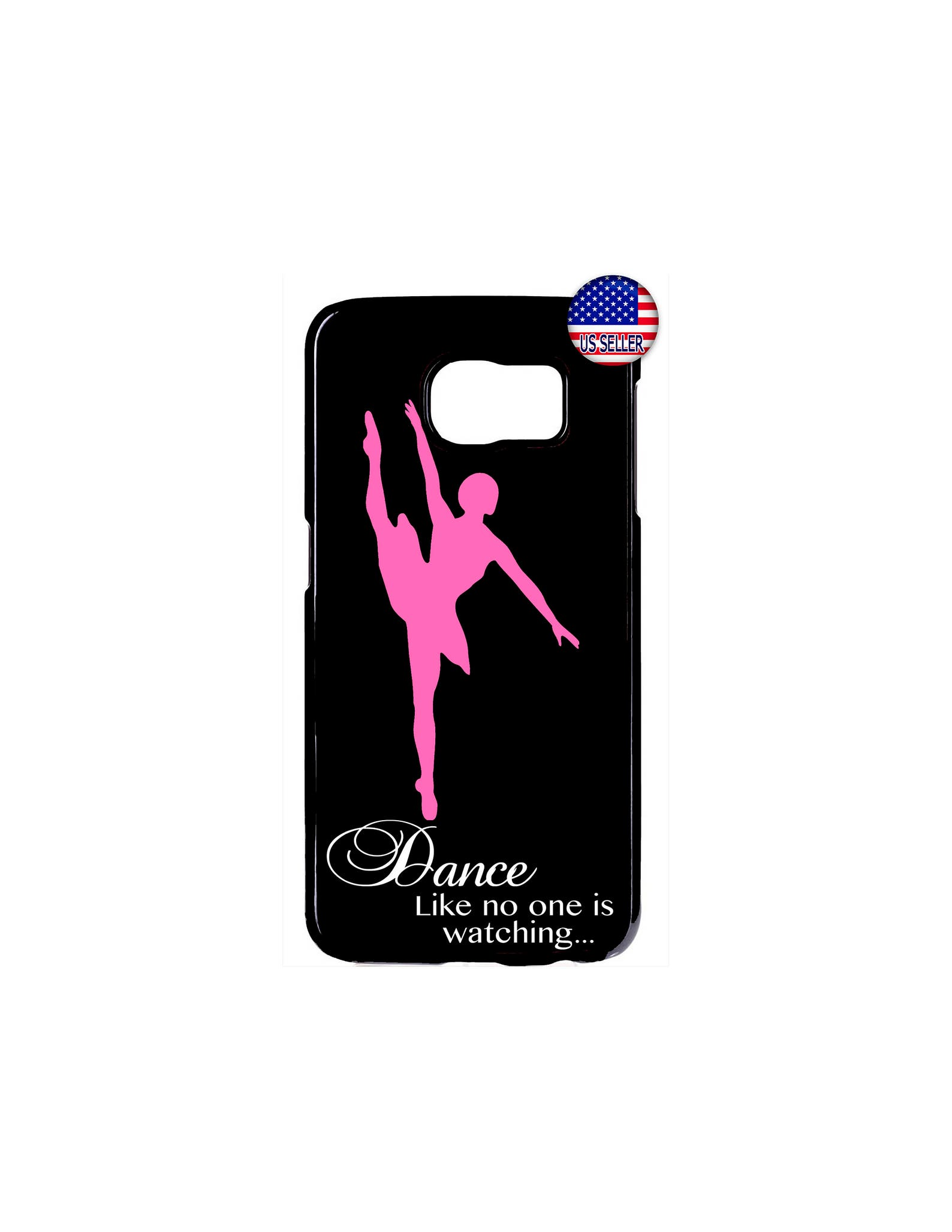 cute ballerina ballet dancer hard rubber slim case cover for samsung galaxy s9 s8 s7 plus s6 edge s5 s4 note 9 8 5 4 ipod touch