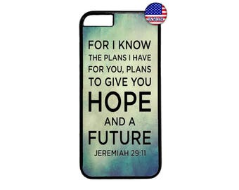 Christian Bible Verse Jeremiah New Pattern Hard Rubber TPU slim Case Cover for iPhone X 8 7 6 6s PLUS 5 5s SE 5C 4 4s iPod Touch 4 5 6