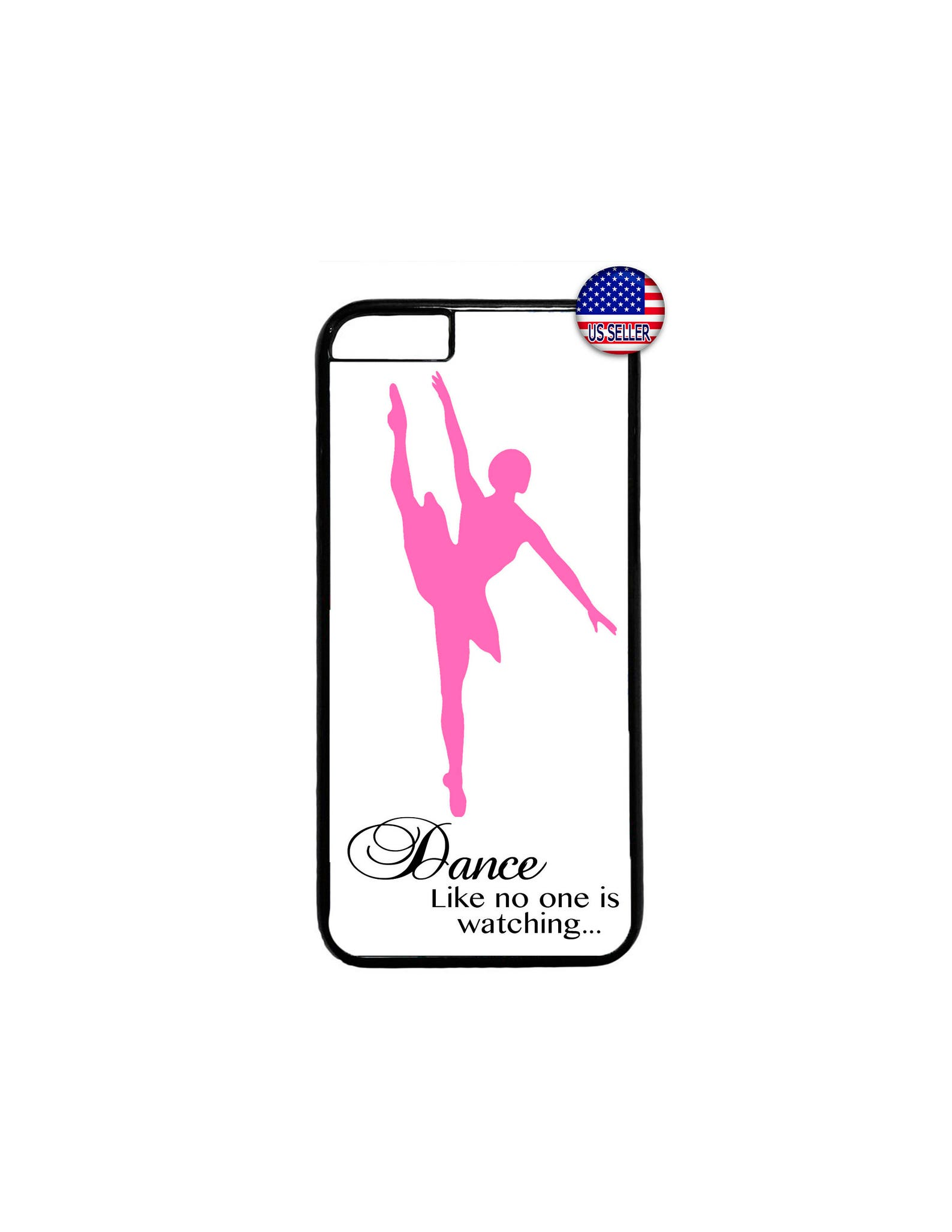 ballerina ballet dancer hard rubber tpu slim case cover for iphone 8 7 6 6s plus x xs max 5 4 se ipod touch 4 5 6 7