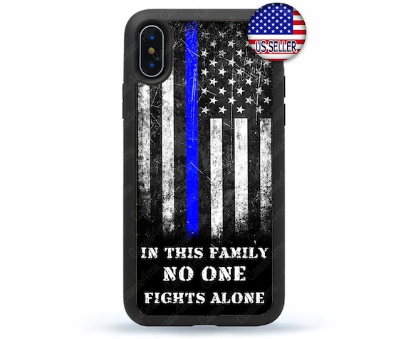 Thin Blue Line Flag Police Hard Back Case Cover For Apple iPod 4 5 6
