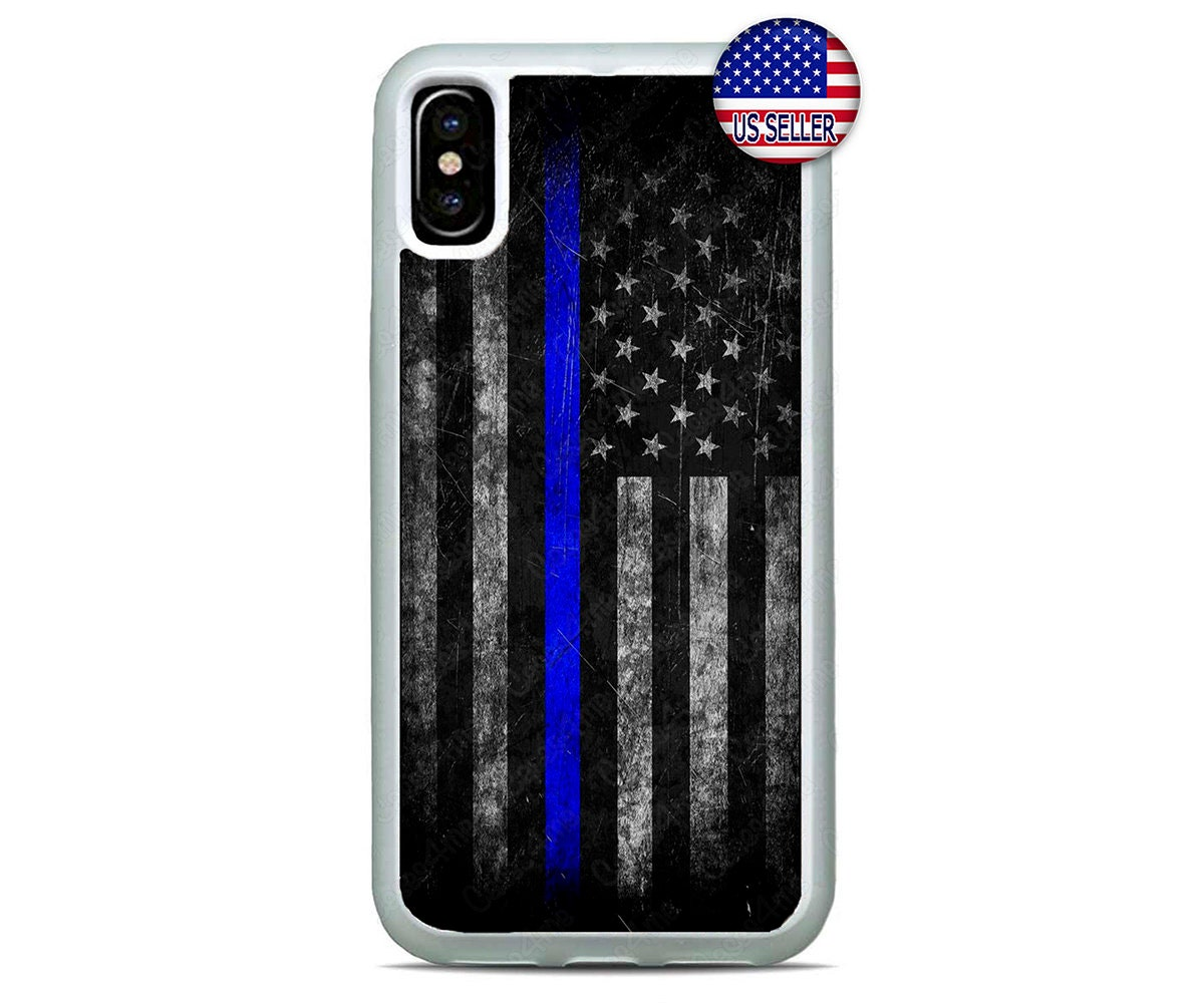competitive price 23916 25fa3 Police Thin Blue line Case Phone Cover For iPhone X/Xs Max, iPhone  XR,iPhone 8/7/6 Plus Case,iPHONE 5/4 Case,American Flag,iPod 7/6/5/4 Case