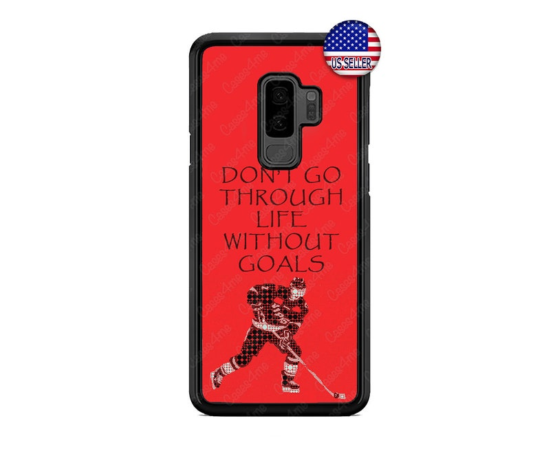 Samsung Galaxy s10 s10e s9 plus S7 Edge S6 S5 NOTE 9 8 5 Hard Rubber Slim  Case Cover Ice Hockey Quote Case Cover Google Pixel 3 2 XL