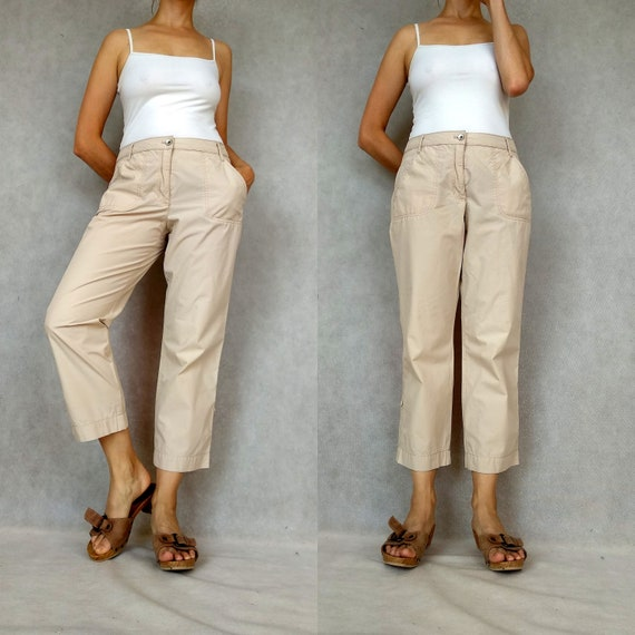 Vintage Cargo Pants, Betty Barclay Pants, Retro Ca