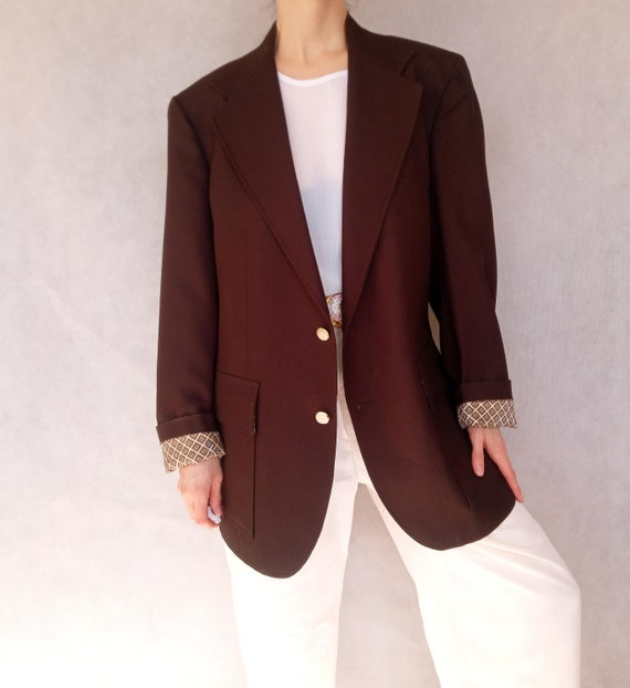 Vintage 1980's Chocolate Brown Jacket, Oversized B