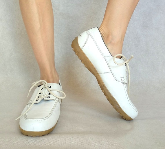 Vintage Bally Golf Shoes, 80s White Shoes, US 10,