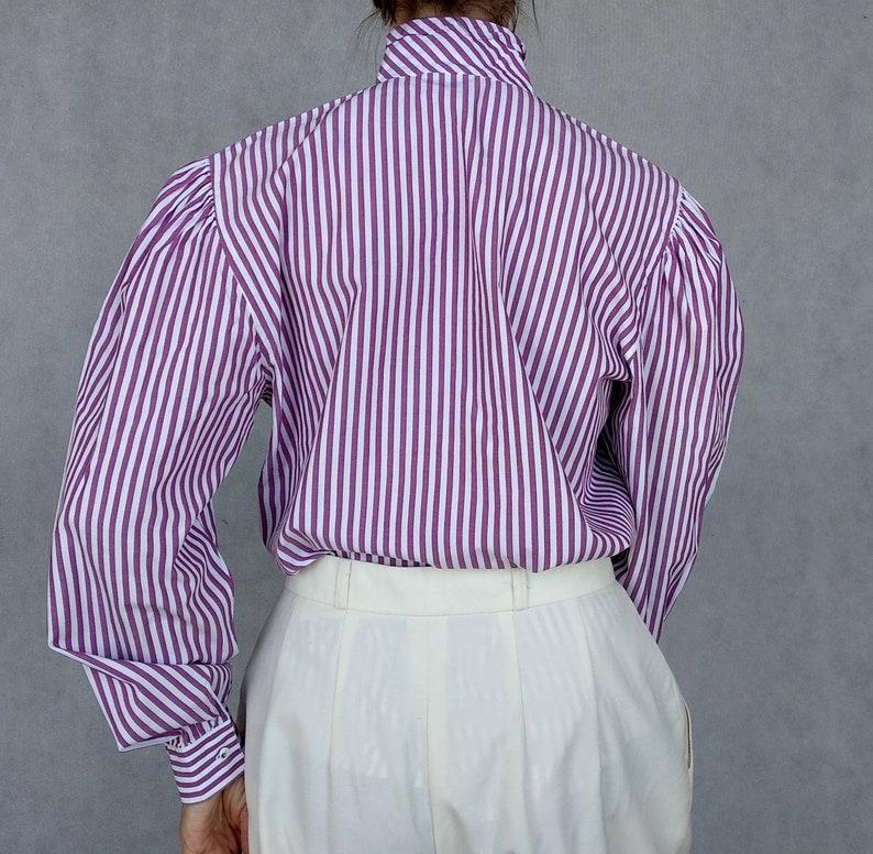 Button Down Top Hammerle Oktoberfest Top Vintage Dirndl Blouse Trachten Shirt Austrian Cotton Shirt Purple Bavarian Top