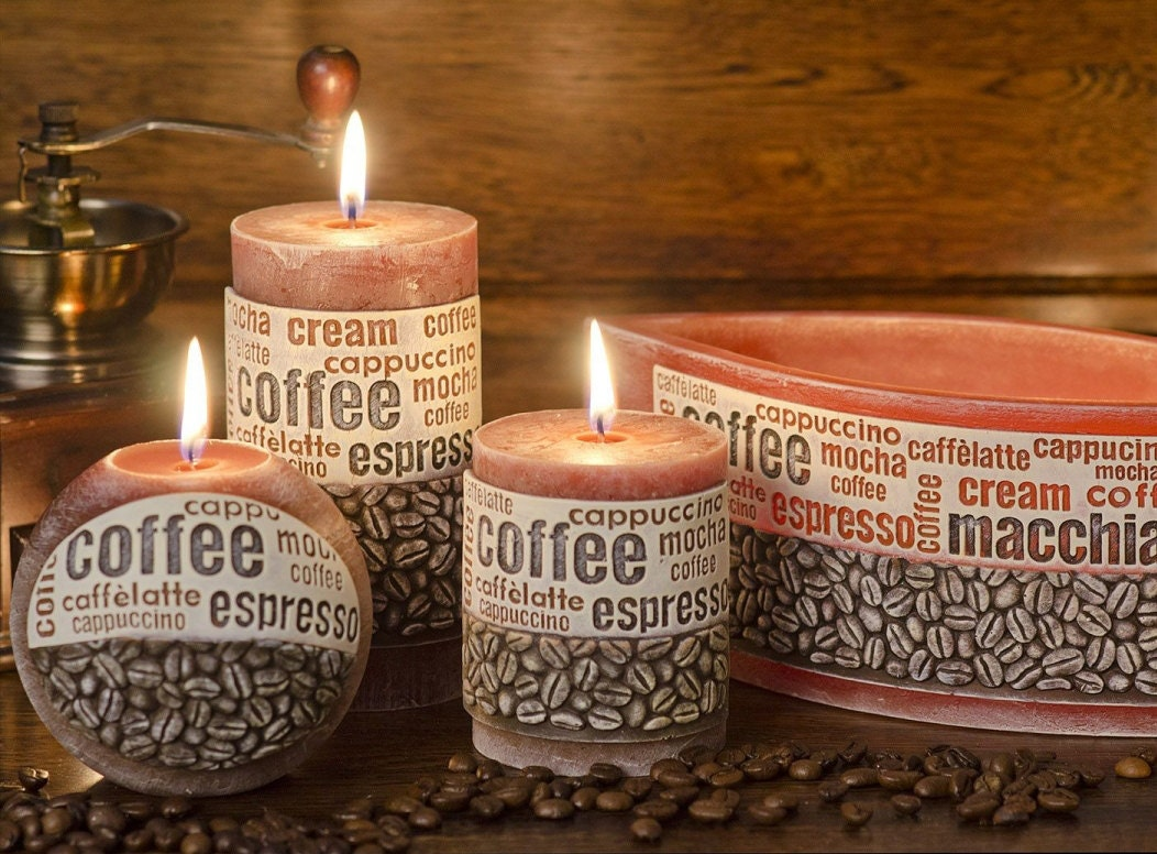 Coffee Candle Coffee Time Candle Set Scented candles | Etsy