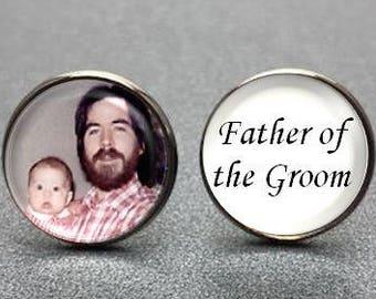 Father of the Groom Cufflinks, personalized cufflinks