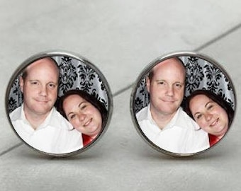 Personalized Cufflinks, Personalized Photo Cufflinks using any image or message
