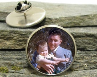 Custom Photo Lapel Pin, personalized lapel pin, Personalized Photo Pin made with your photo