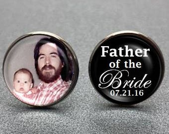 Father of the Bride Photo Cufflinks