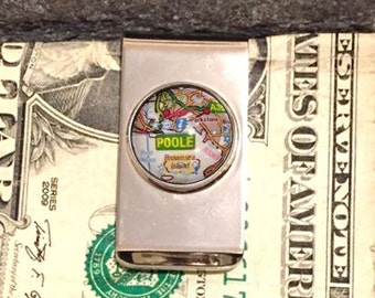 Map Money Clip, Any Map You Want, Custom Photo Money Clip, Custom Money Clip
