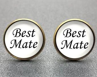 Best Mate Cufflinks, personalized cufflinks