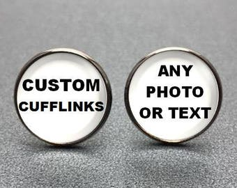 Custom Cufflinks, Personalized Cufflinks, Photo Cufflinks made with your photo or special message