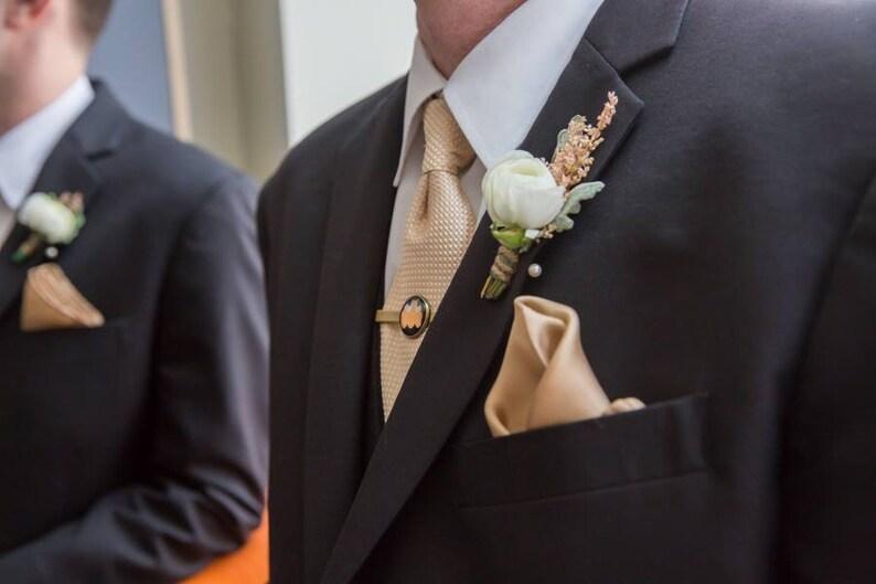 Personalized Tie Bar Custom Tie Clip Gold or Silver Tie Clip