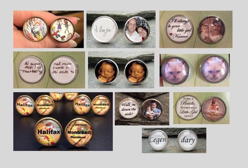 Custom Cufflinks made with you photo or message Superhero Cuff Links Personalized Cuff Links Superhero Cufflinks Personalized Cufflinks
