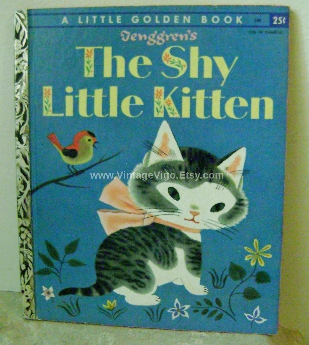 f956cfaaf995 Vintage Little Golden Book The Shy Little Kitten A Printing Tenggrens 1946  Free Shipping Sale Rare Cats Graduation Gifts Gustaf Tenggren