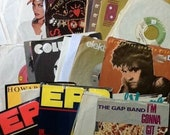 Lot of 50 45 RPM Records w Sleeves vg nm shape