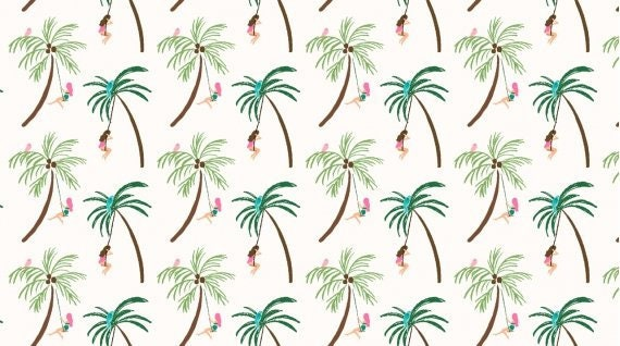Palm Tree collection 100/% Cotton Fabric Price per 1//2 metre
