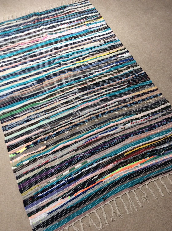 Die RAG Chindi Teppich Hippie-Teppich bunten Flickenteppich | Etsy