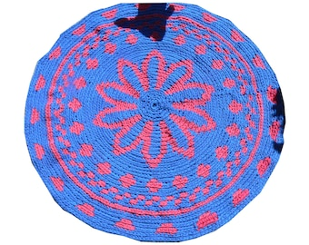 Bohemian Gypsy Häkelteppich , Tapestry ART Yoga Matte, Vorleger, Badezimmer Eco friendly colorful, Mandala, Round Rug