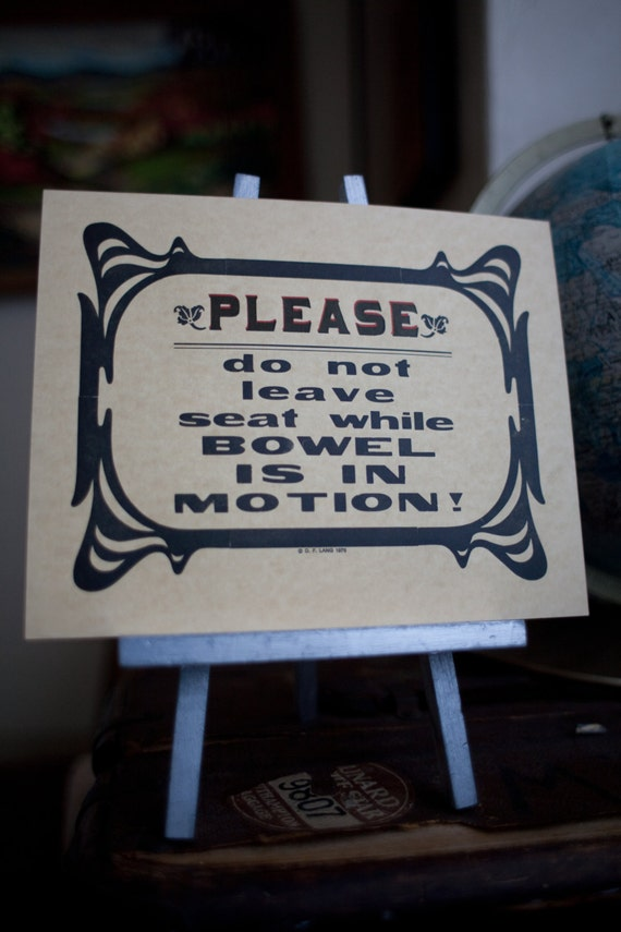 Vintage Handmade Letterpress Please Do Not Leave Seat Etsy