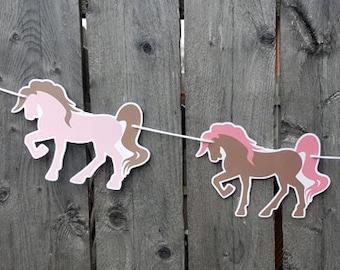 Horse Garland, Horse Banner, Cowgirl Garland, Cowgirl Banner, Cowgirl Birthday, Horse Decorations, Photo Prop - 2318121P
