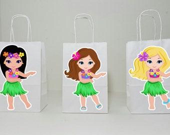 Luau Goody Bags, Hawaii Goody Bags, Tiki Goody Bags, Girls Luau (6817400P)